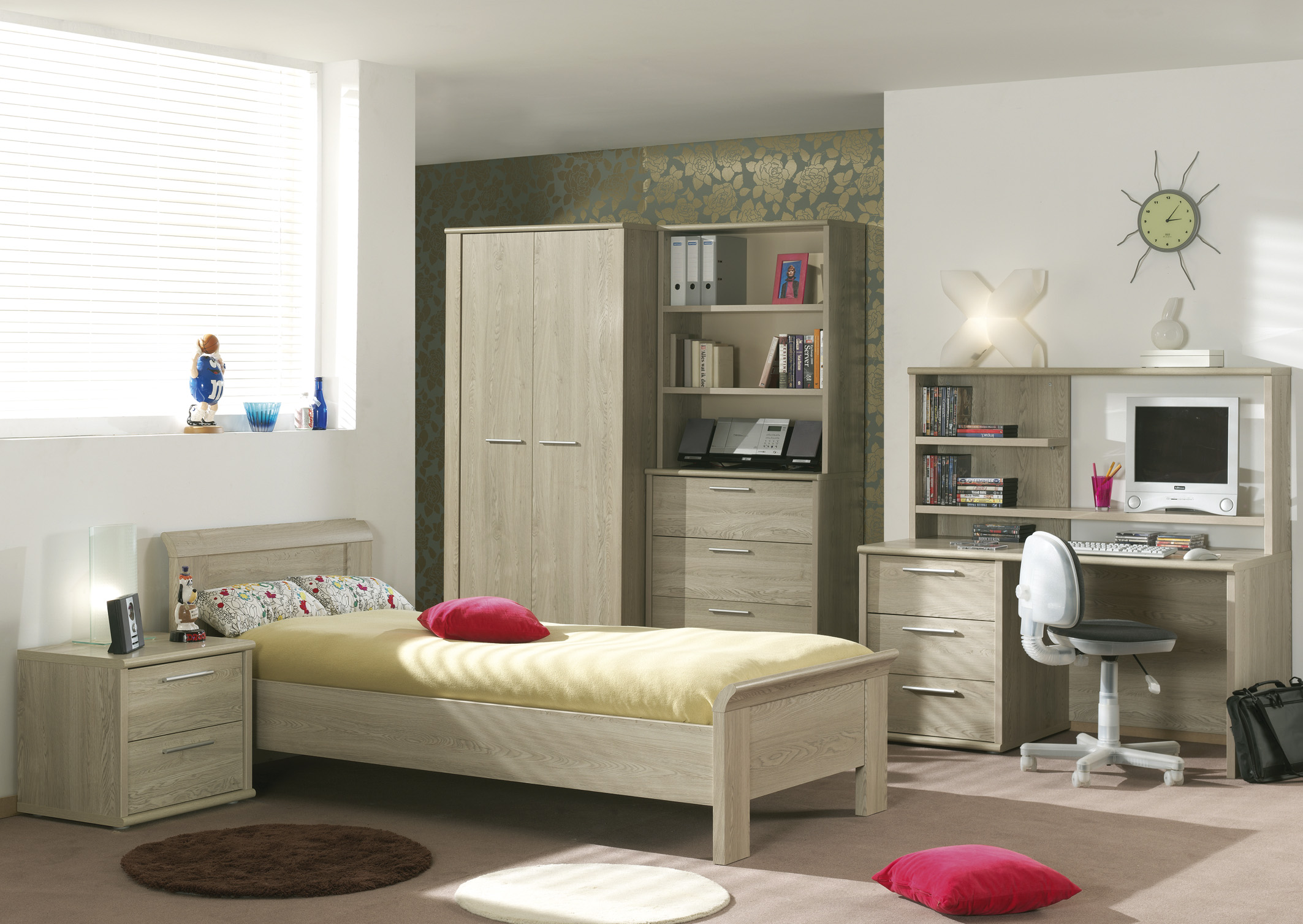 Jeugdkamer nina meubelen voor thuis salons eetkamers slaapkamers relaxen bedden - Idee deco wallpaper volwassene kamer ...